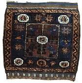Handmade antique Afghan Baluch bagface 2.5' x 2.5' (