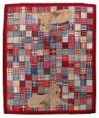 Handmade vintage American hooked rug 9.10' x 12' (