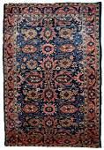 Handmade antique Persian Lilihan rug 3.2' x 5,3' ( 97cm