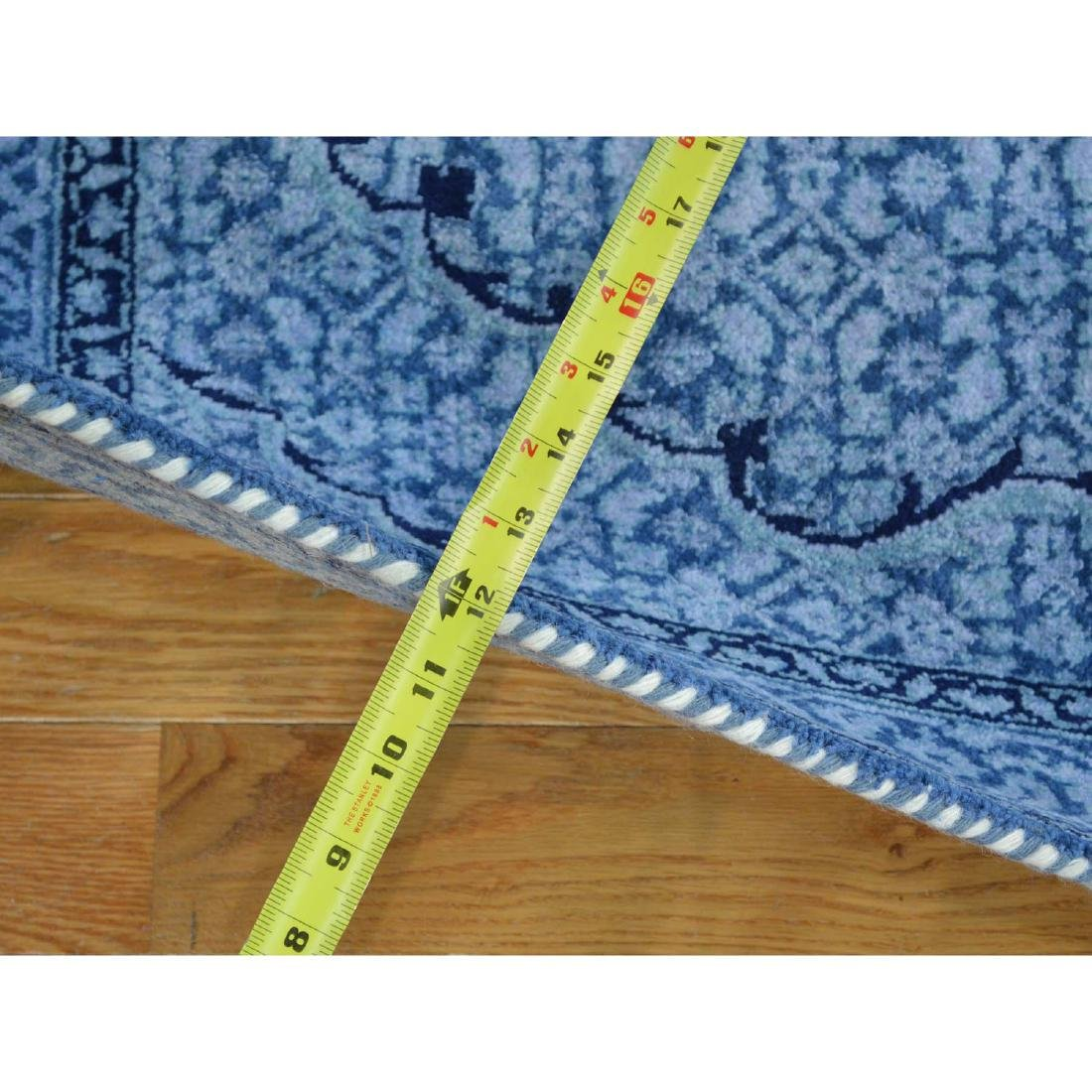 Wool and Silk Tabriz Mahi Runner Oriental Rug Handmade - 3