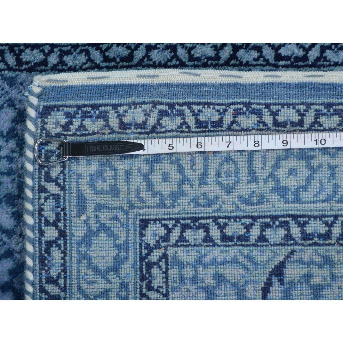 Wool and Silk Tabriz Mahi Runner Oriental Rug Handmade - 5