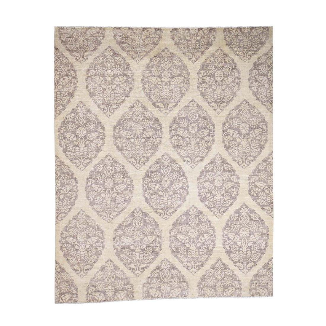 Pure Wool Peshawar with Mughal Design Hand Knotted Rug