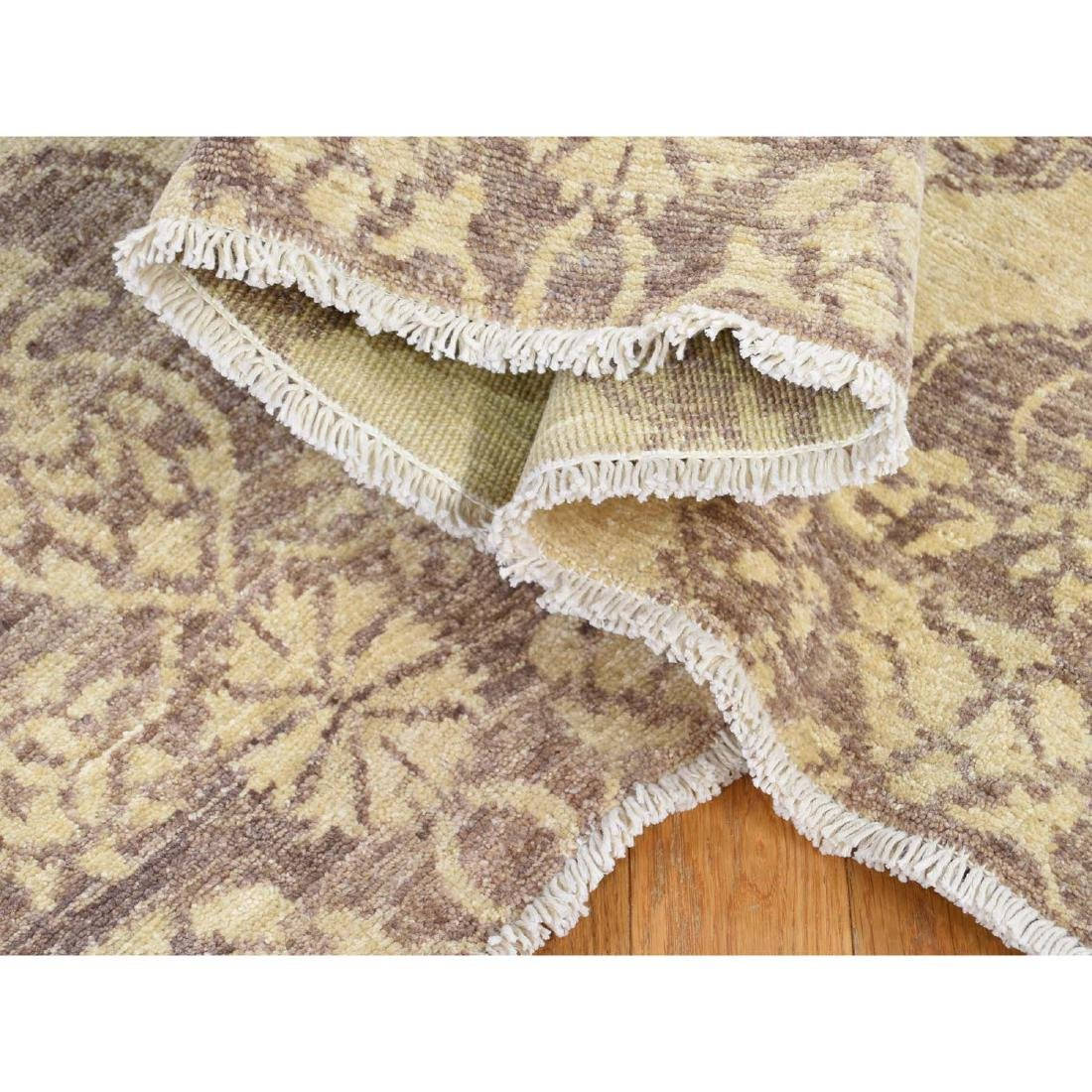Pure Wool Peshawar with Mughal Design Hand Knotted Rug - 6