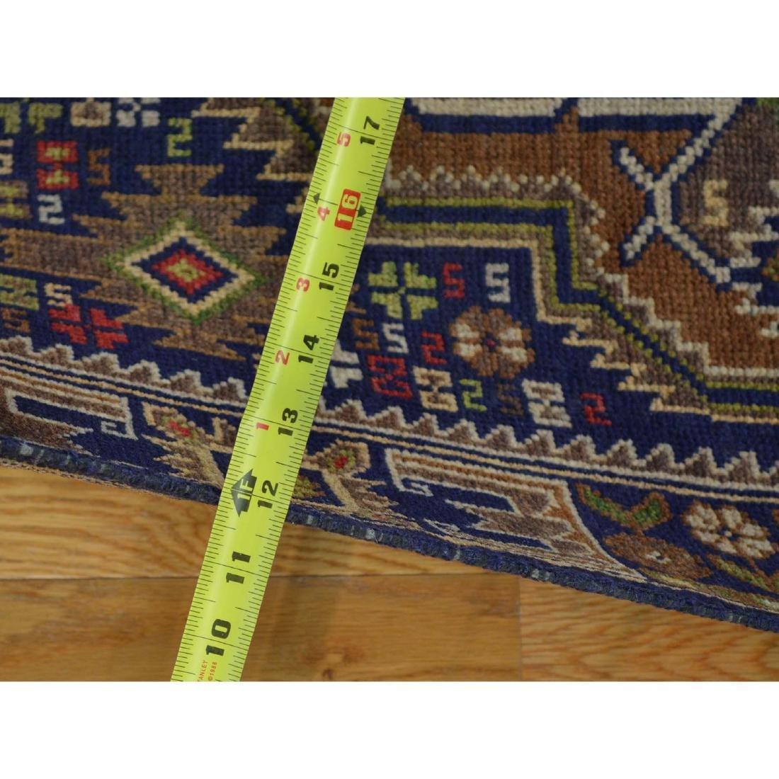 Runner Navy Blue Afghan Baluch Handmade Oriental Rug - 3