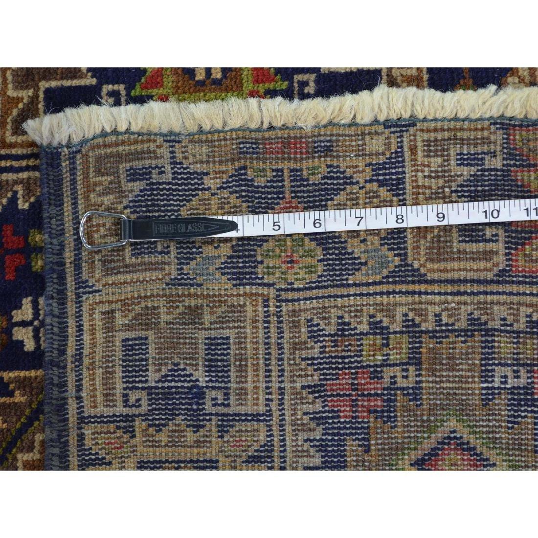Runner Navy Blue Afghan Baluch Handmade Oriental Rug - 5