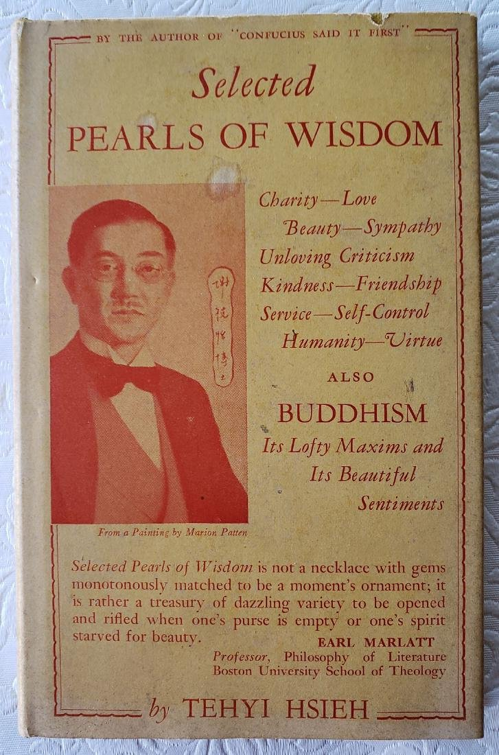 Selected Pearls of Wisdom and Buddhism. Signed.