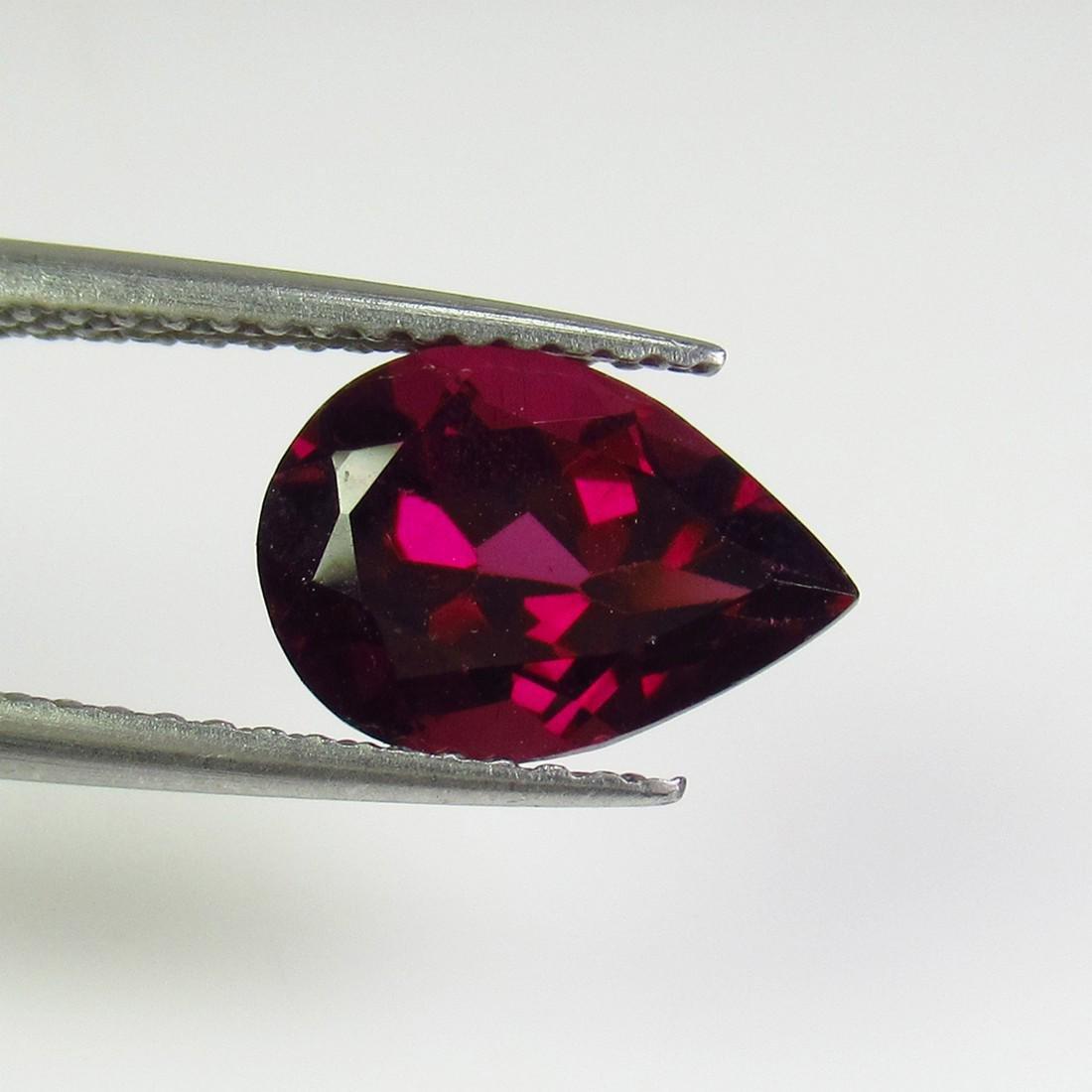 2.57 Ct Genuine Pink Rhodolite Garnet 10X7 mm Pear Cut