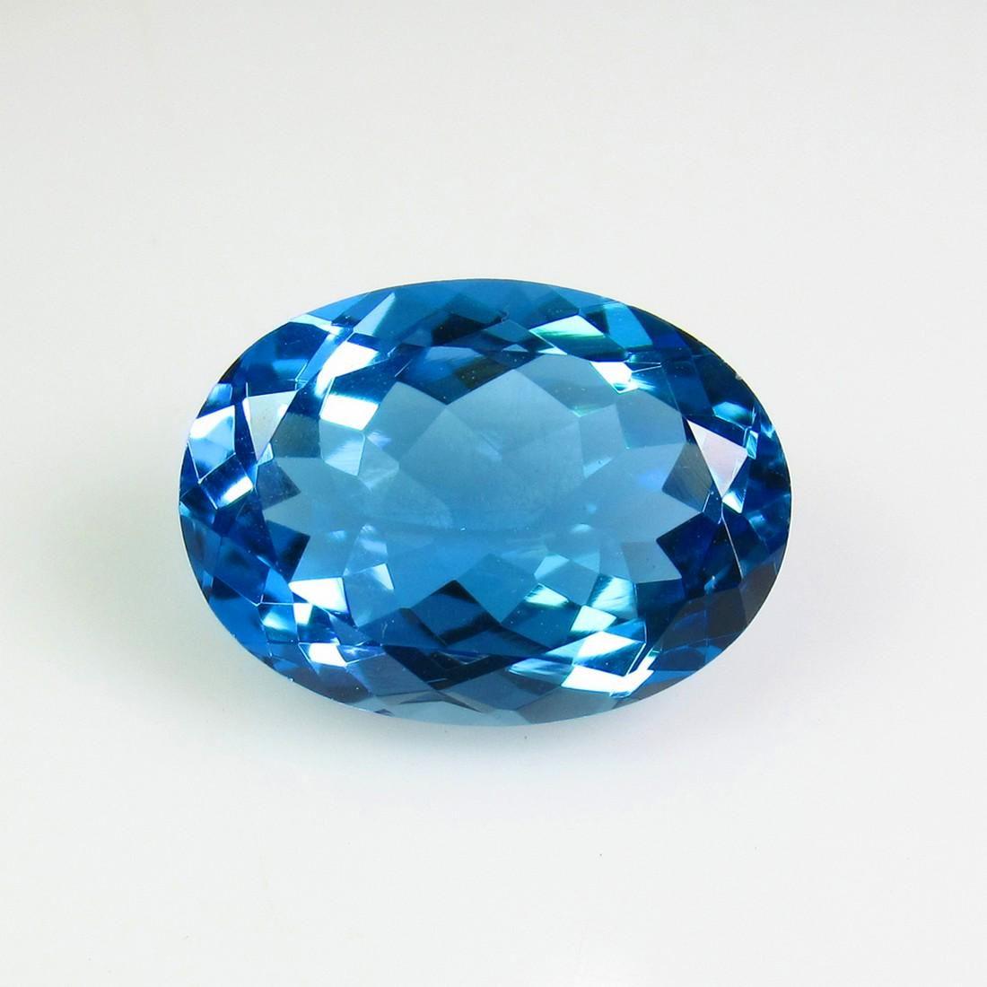 8.85 Ct Genuine Brazil Swiss Blue Topaz 15X11 mm Oval