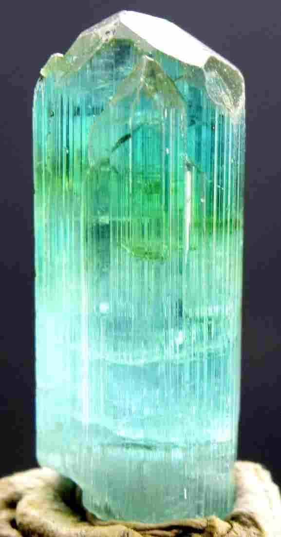 56.20 carats Terminated Gem Grade Sea Foam Blue Color