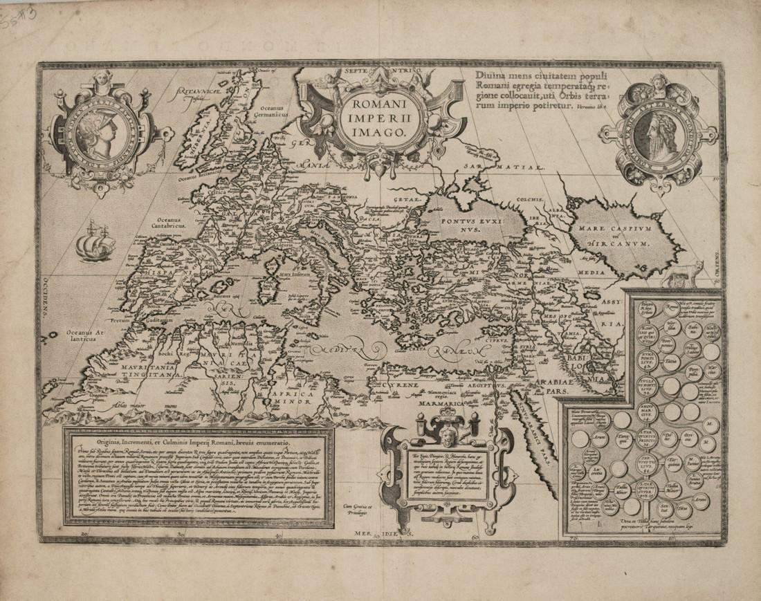 1579 Ortelius Map of the Roman Empire -- Romani Imperii