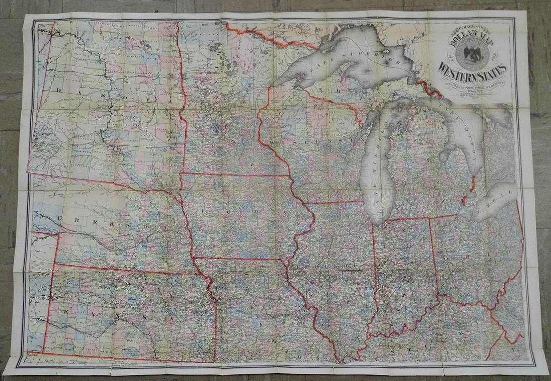 Demarest's Dollar Map of the Western States