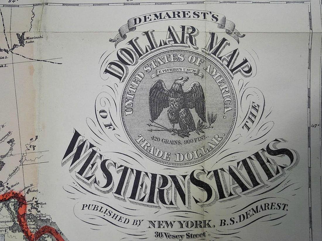 Demarest's Dollar Map of the Western States - 2