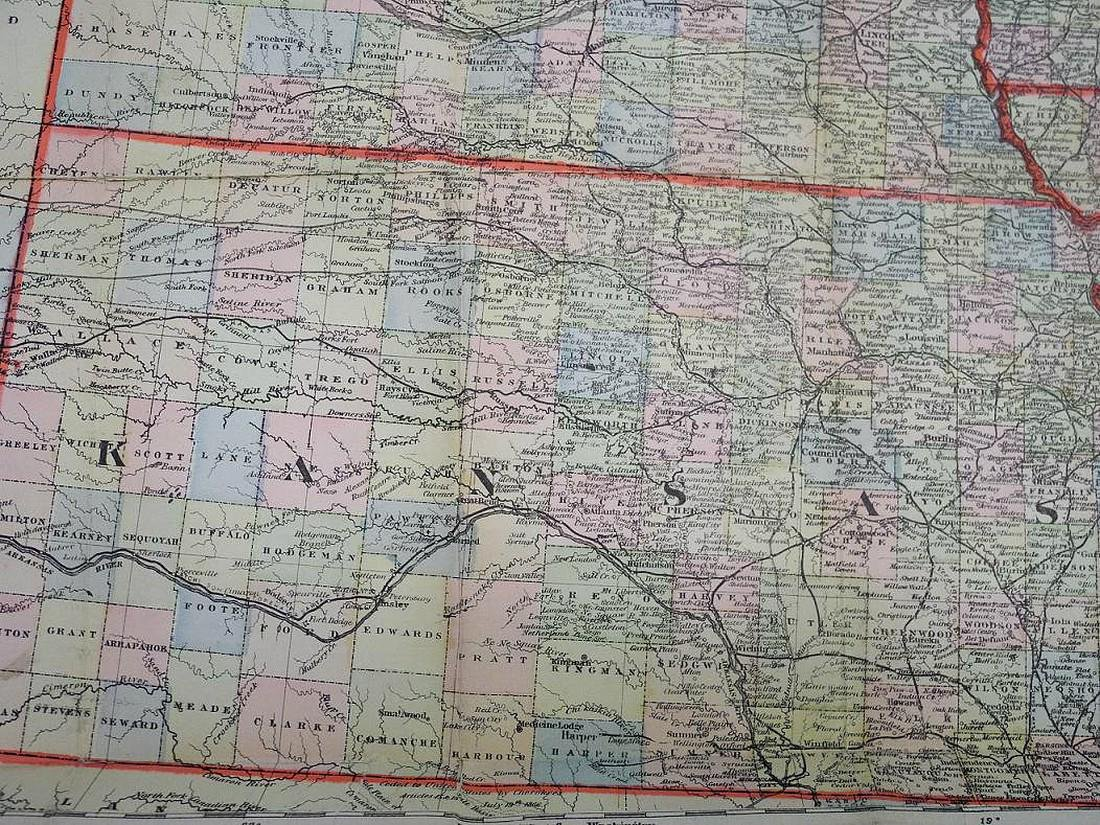 Demarest's Dollar Map of the Western States - 6