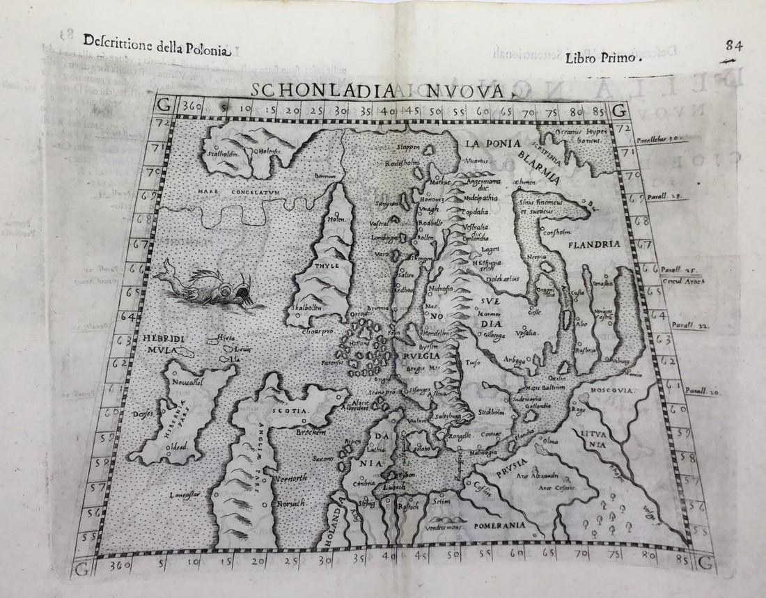 Rare map of Scandinavia