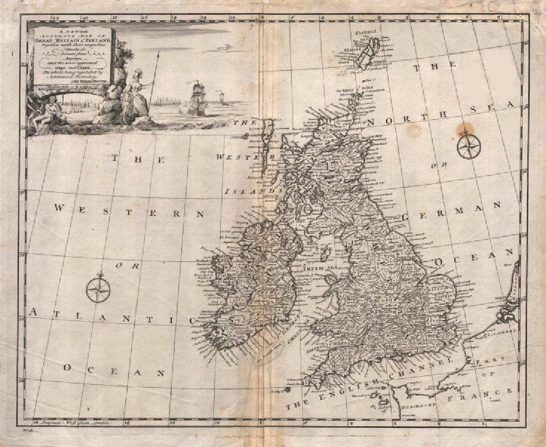 """""""A new and accurate map of Great Britain & Ireland"""" by"""