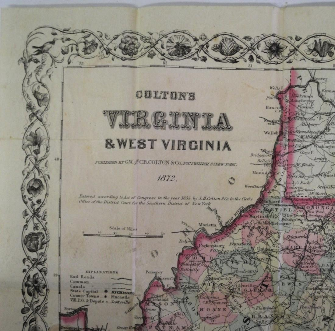 Colton's Map of Virginia - 4
