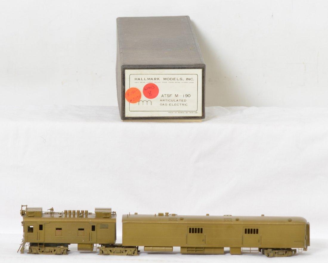 Hallmark ATSF M190 gas electric locomotive, brass, HO