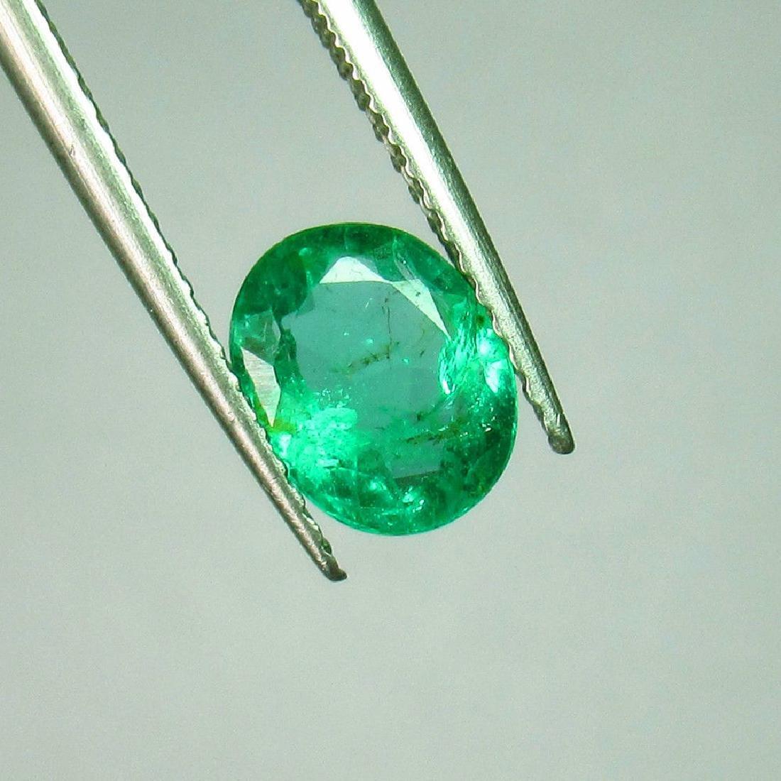 1.00 Ct Genuine Zambian Emerald Oval Cut