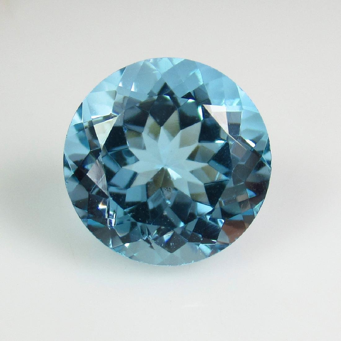 10.65 Ct Genuine Brazil Swiss Blue Topaz 13 mm Round