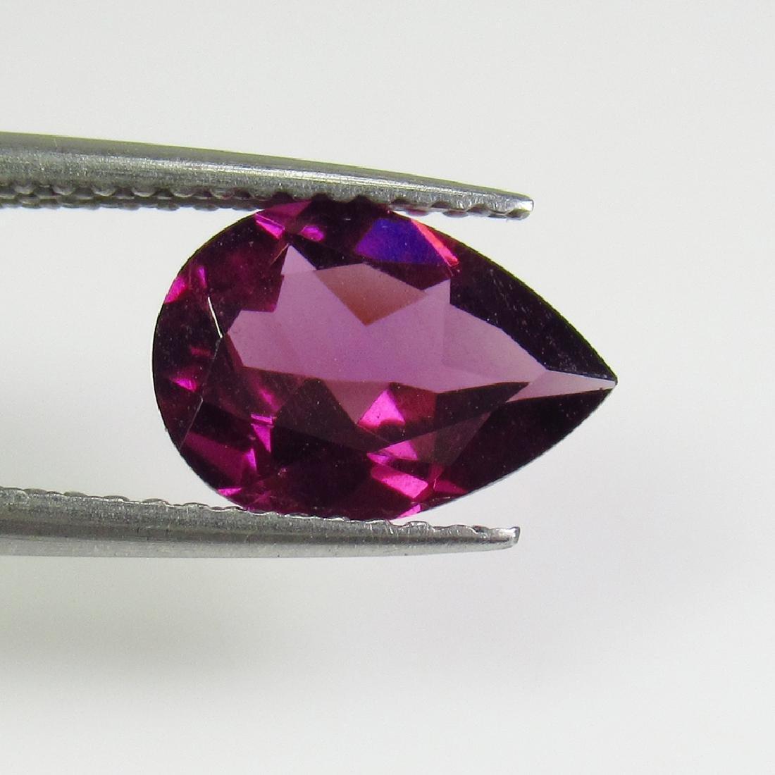 2.04 Ct Genuine Pink Rhodolite Garnet Pear Cut