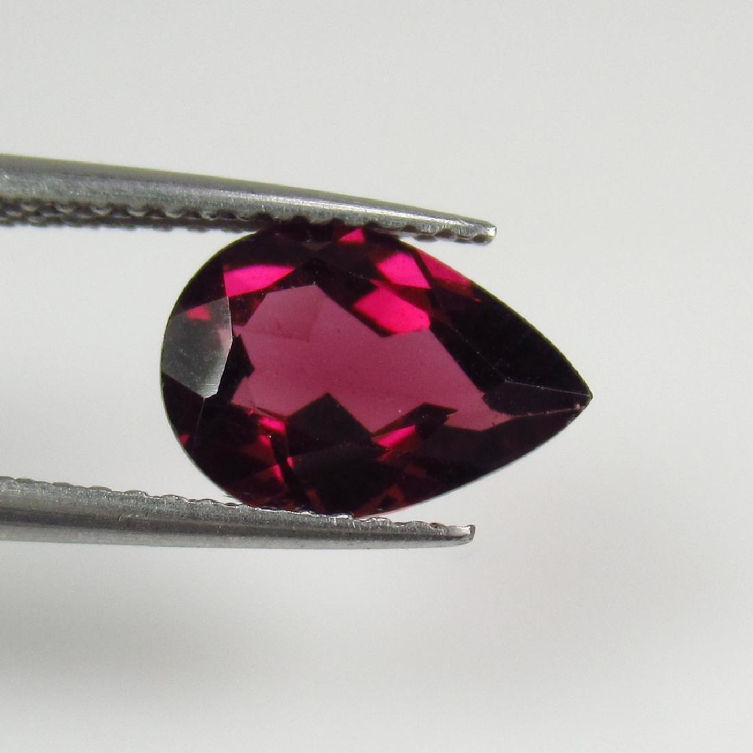 2.19 Ct Genuine Pink Rhodolite Garnet Pear Cut