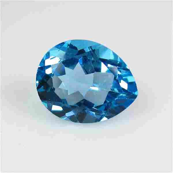 3.16 Ct Genuine Brazil Swiss Blue Topaz 10X8 mm Oval
