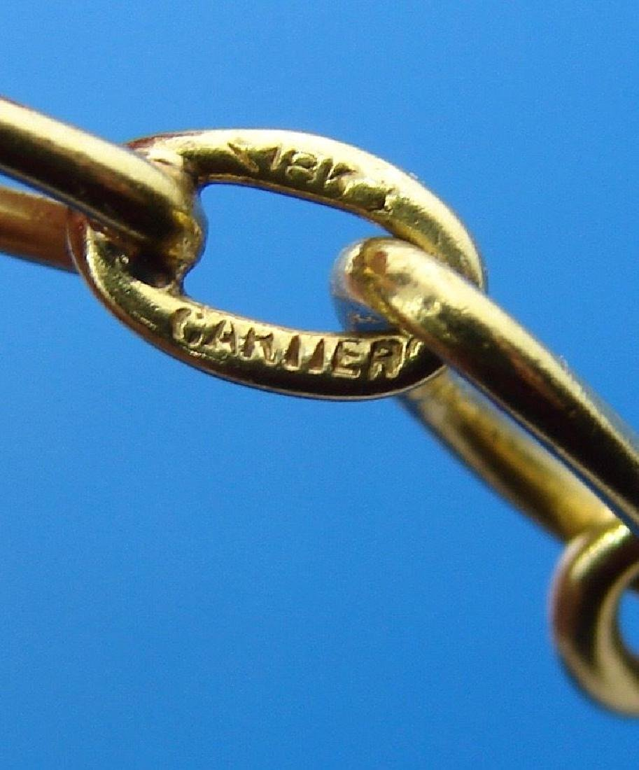 CLASSICALLY COOL Cartier 18k Yellow Gold Chain Oval - 2