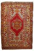 Hand made antique Turkish Anatolian rug 3.5' x 5.2' (