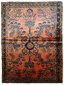 Handmade antique Persian Lilihan rug 3.5' x 5.4' (