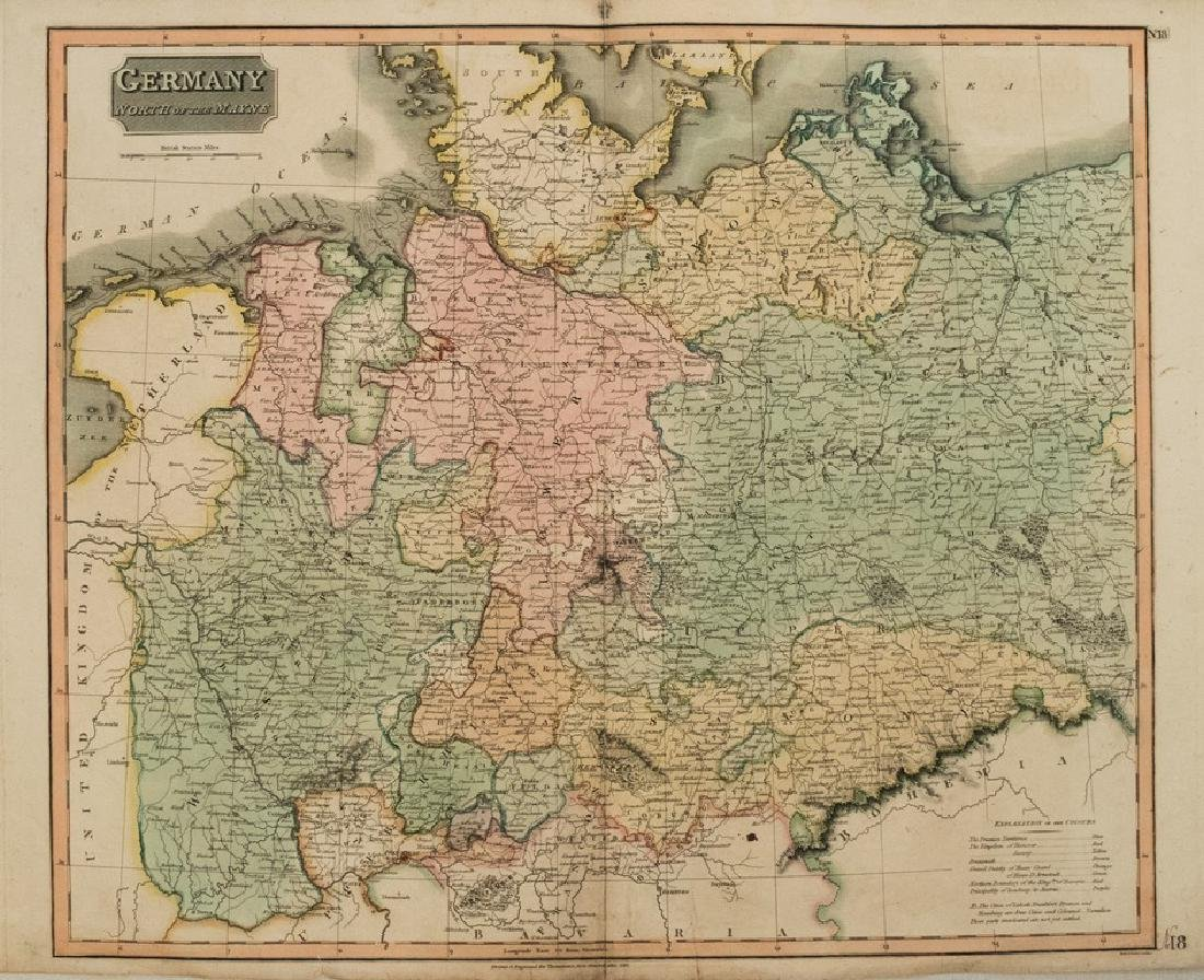Map Of Central Germany.1816 Thomson Map Of Northern And Central Germany Feb 05 2019