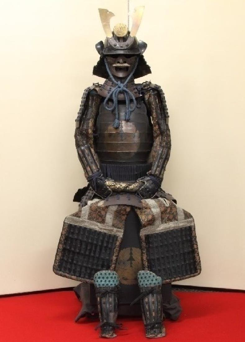 A beautiful Japanese Samurai Armor Equipped with a rare
