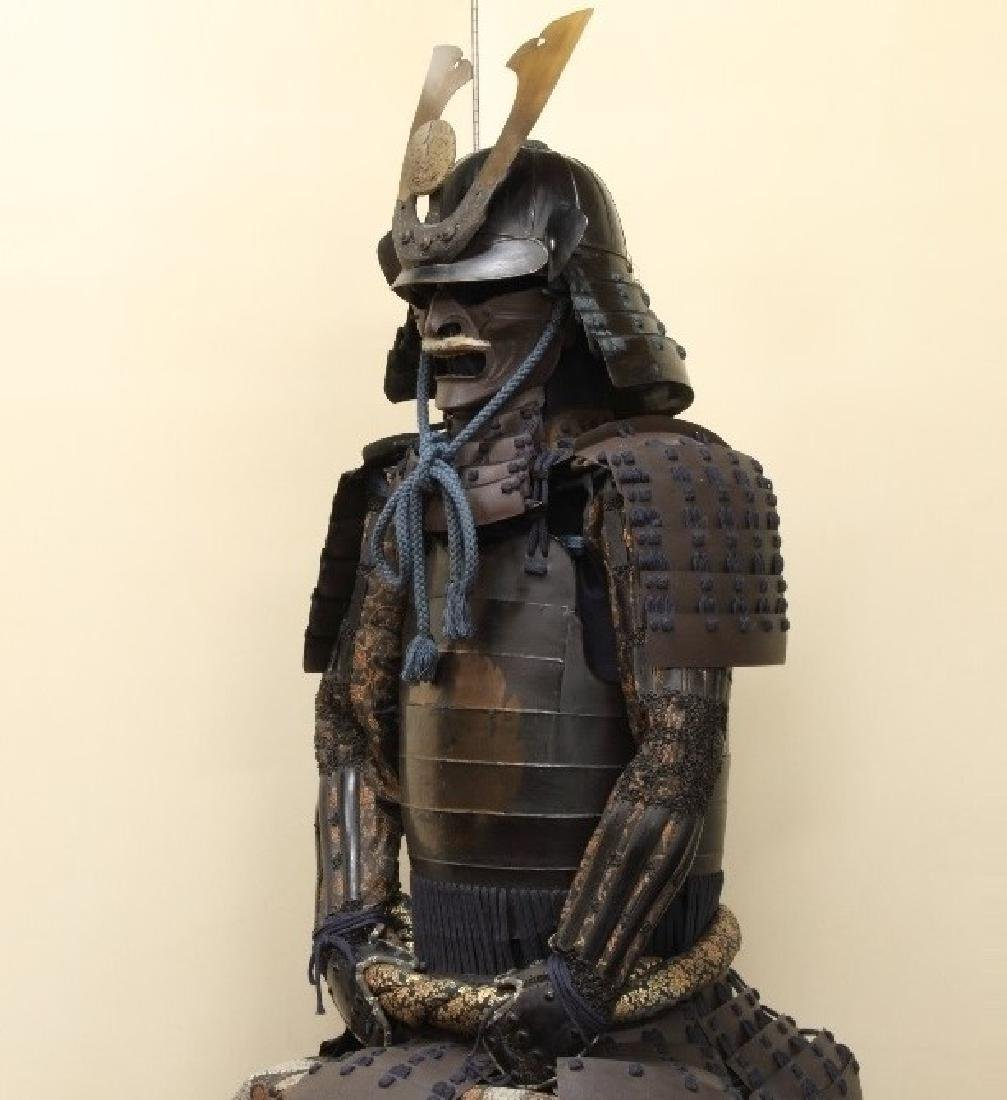 A beautiful Japanese Samurai Armor Equipped with a rare - 3