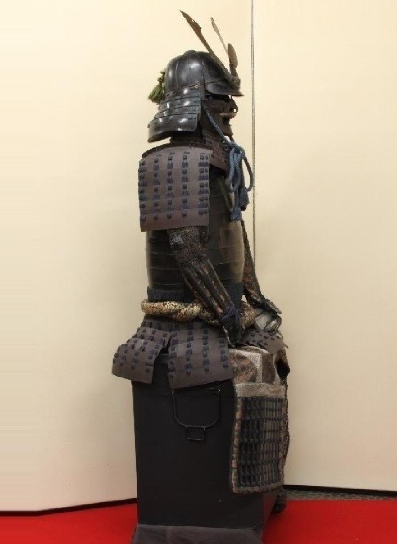A beautiful Japanese Samurai Armor Equipped with a rare - 5