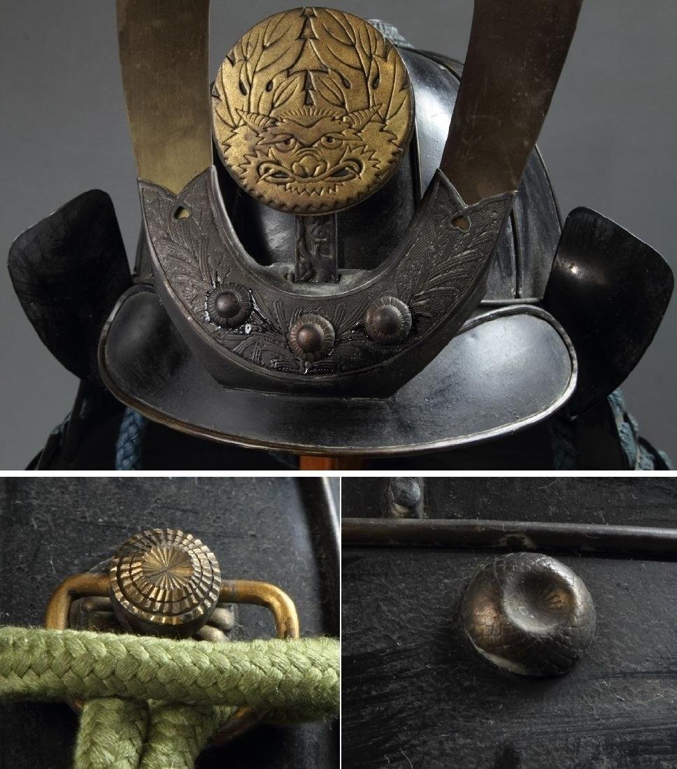 A beautiful Japanese Samurai Armor Equipped with a rare - 6