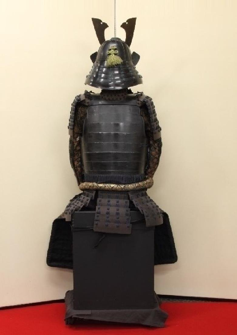 A beautiful Japanese Samurai Armor Equipped with a rare - 7