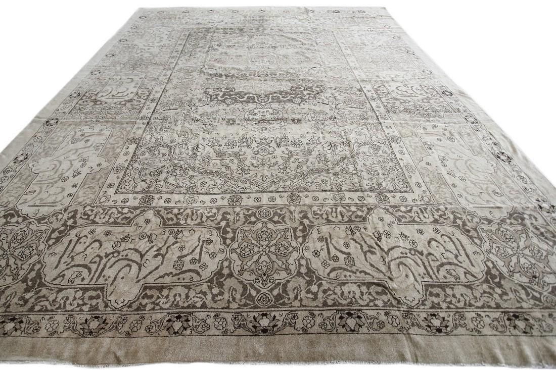 Antique Rare Agra Amritsar Rug Animal Design Poetry - 3