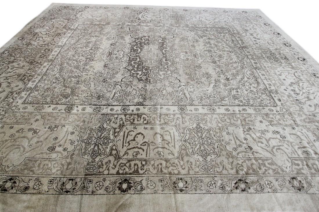 Antique Rare Agra Amritsar Rug Animal Design Poetry - 4