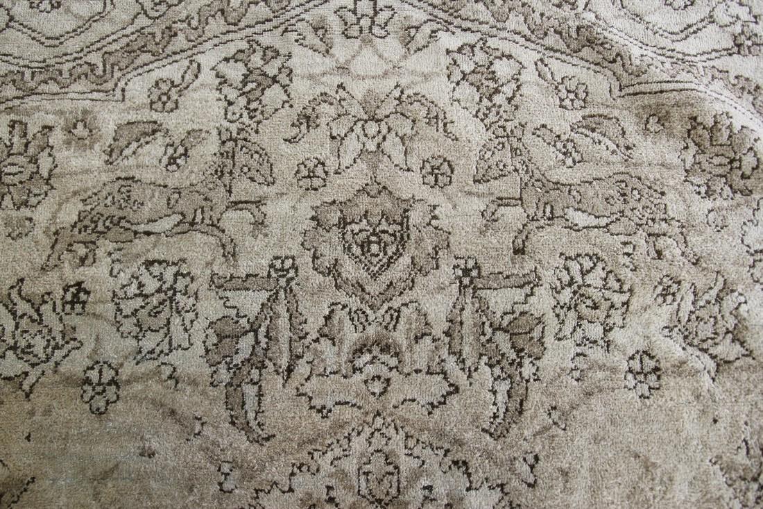 Antique Rare Agra Amritsar Rug Animal Design Poetry - 5