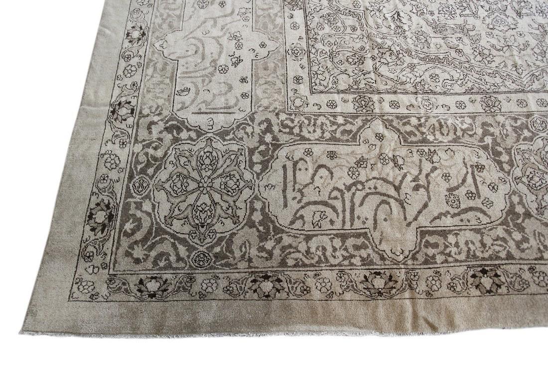 Antique Rare Agra Amritsar Rug Animal Design Poetry - 7