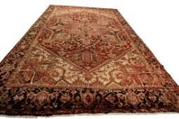 10'x13' Vintage Authentic Heriz Rug Persian Serapi