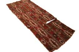 Antique Sumak Soumak Shahsavan Saddlebag Rug Brick Red
