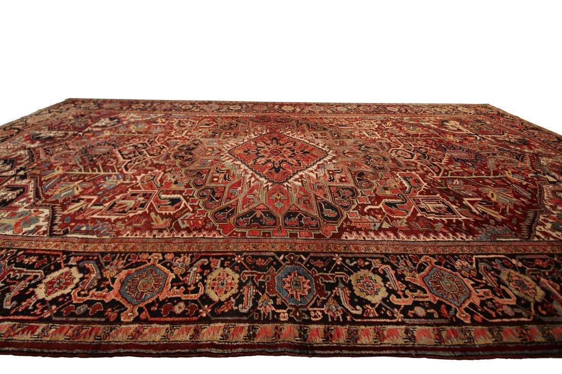 11'X19' Authentic Antique Persian Heriz Serapi Rug Fine - 10