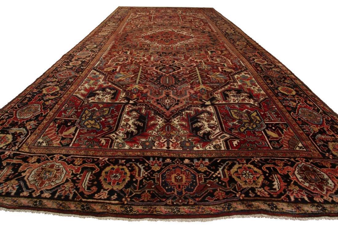 11'X19' Authentic Antique Persian Heriz Serapi Rug Fine