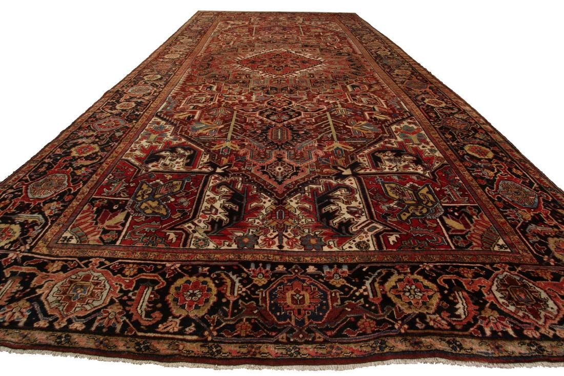 11'X19' Authentic Antique Persian Heriz Serapi Rug Fine