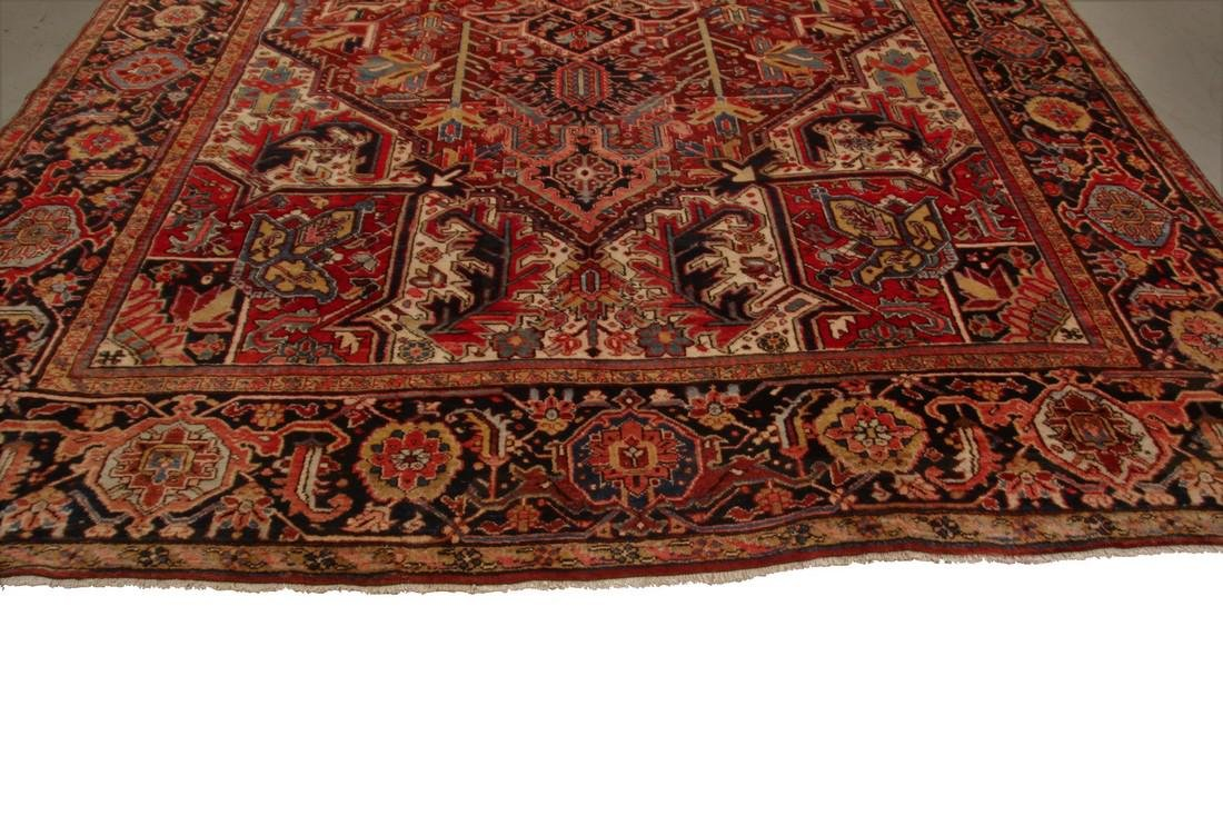 11'X19' Authentic Antique Persian Heriz Serapi Rug Fine - 2