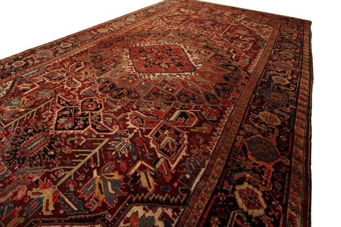 11'X19' Authentic Antique Persian Heriz Serapi Rug Fine - 3