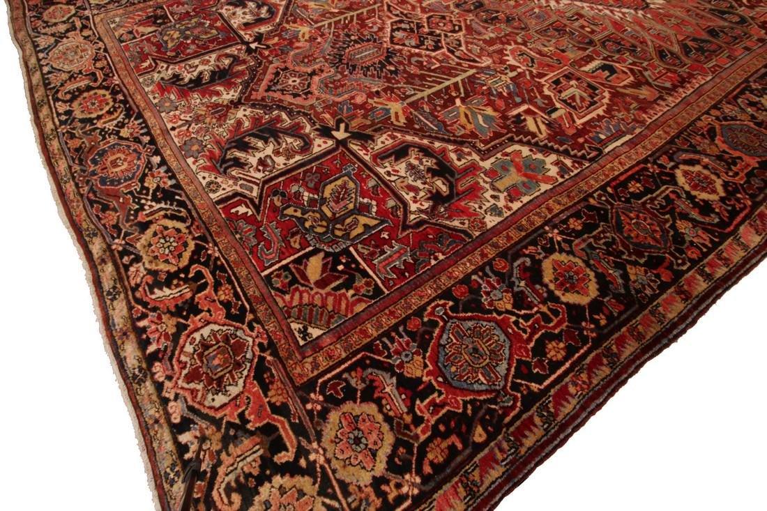 11'X19' Authentic Antique Persian Heriz Serapi Rug Fine - 4