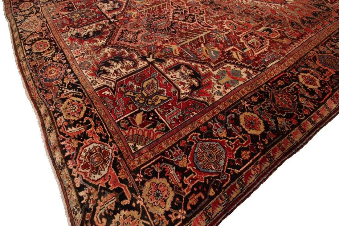 11'X19' Authentic Antique Persian Heriz Serapi Rug Fine - 4