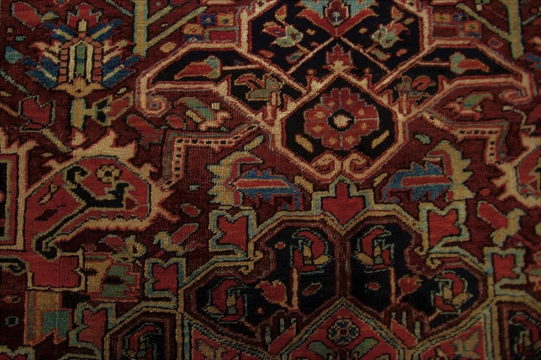 11'X19' Authentic Antique Persian Heriz Serapi Rug Fine - 5
