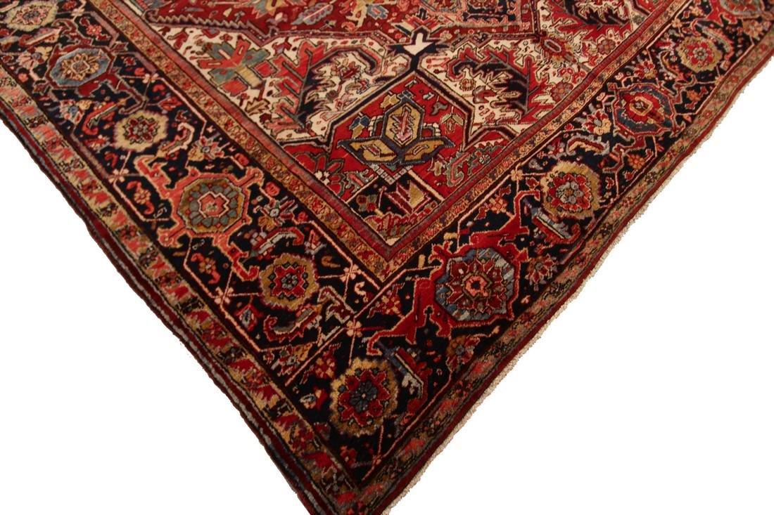 11'X19' Authentic Antique Persian Heriz Serapi Rug Fine - 6